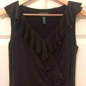 Ralph Lauren Brown Stretch Midi Dress 4